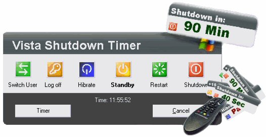 Vista Shutdown Timer full screenshot
